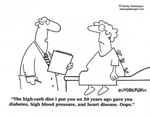 Cartoon - low fat diet gave you heart disease
